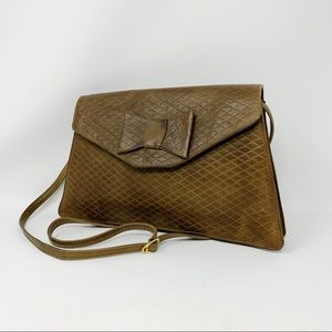 VTG Battaglia Quilted Leather Convertible Clutch